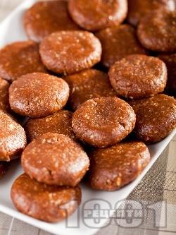 Бързи и лесни орехови сладки за десерт с какао за десерт без печене - снимка на рецептата